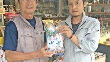 鹿島商工会議所より除菌消毒へ活用頂くべく次亜塩素酸水を贈る活動が実施されておりました。